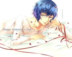 happy valentine's day! with starry sky iku by Blizz-Mii
