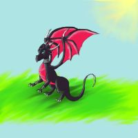 Cynder again.. by Lilac-The-Gerbil