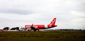 Air Asia A320 Just Landed by lordmusan