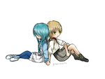 Noiz and Aoba as kids - DRAMAtical Murder by GirlofSmokeandFire