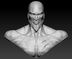 Kratos - God of War 3D Face by Tikay77