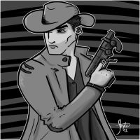 cybernoir - quickdraw by Stryde22