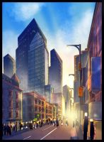 NY City Sunset Concept by nfteixeira
