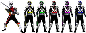 A Squad with Shadow Ranger for MegaElekid947 by rangeranime