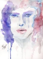 portrait with watercolor by Dream-Catcher-88