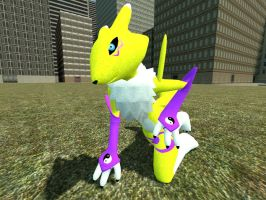 Renamon gmod by Kenixan2