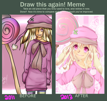 DRAW AGAIN MEME by Kawaiiipoop