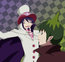 Mephisto and Amaimon by NarutoLover6219