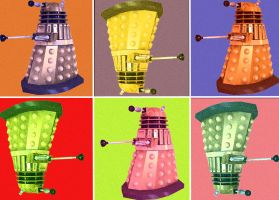 Dalek Pop Art by LilPinkKirby