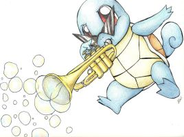 Squirtles Can play Trumpets by MilesofCrochet