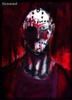 Jason Voorhees -painting- by XxLevanaxX