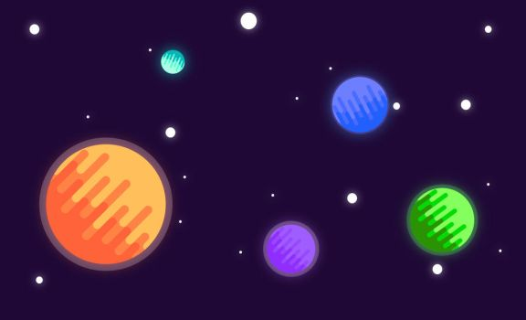 Planets: Flat Design by Beijing54