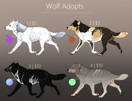 Wolf Adopts | OPEN by LizzardDraws