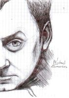 Michael Emerson half portrait by GalacticSun