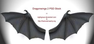 Demon Wings PSD-Stock by nightgraue