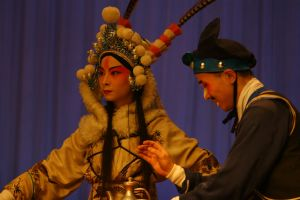 Sichuan Opera Performers Chongqing China by davidmcb