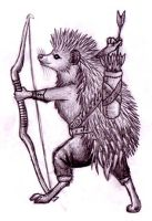 Hedgehog Archer by EWilloughby