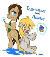 Doctor Whooves and Assistant by 00riko