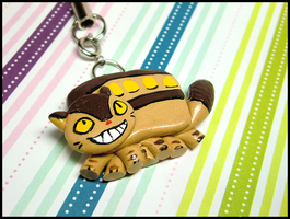 Catbus Mobile Charm by GrandmaThunderpants