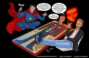 TLIID 315. Dr Strange and Dr House by AxelMedellin