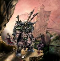 Barbarian in heavy armor by Deadguybeer