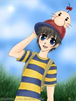 Earthbound - Saturn companion by Krazy-Chibi