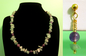 Amethyst - Aventurine Chip Set by BloodRed-Orchid