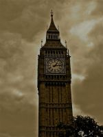 Big Ben sepia by gee231205