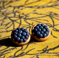 Blueberry Tart Stud Earrings by SweetSugaRush
