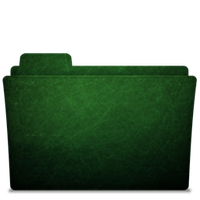 Folder-icon Scratched Green by TylerGemini