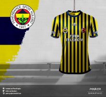 Fenerbahce 2013/14 Ince Cubuklu Forma Tasarimim-2 by Power-Graphic