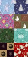 Christmas Pattern Set by krystalamber2009