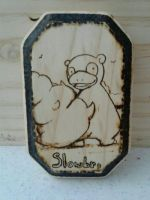 Slowbro wood burning! by Gatodae