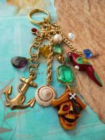 Pirate treasure keychain by janedean