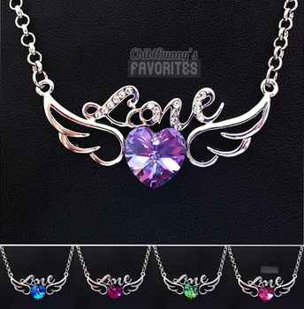 Angel's love - crystal necklaces by tho-be