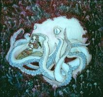 Beauty and the Octopus by barbarasobczynska