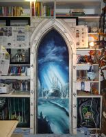 Portal to Alicante (will become a sliding door) by WormholePaintings