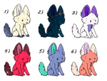 Wolf Adopts - YAY FOR ADOPTS |Open | 1 left by Kathe-gf