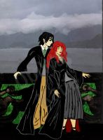 Snape and Lily at Hogwarts by obiwankatie