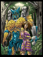 Beast Wars: Cheetor and Gemini by KarlaCr0me