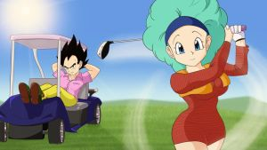 Bulma and vegeta Golf by Mckodem
