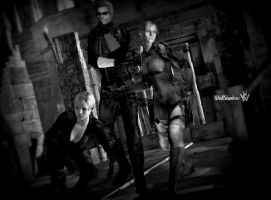 Wesker and his beautiful assistant by WolfShadow14081990