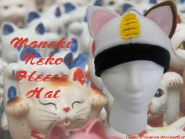 Maneki Neko Fleece Hat by Demi-Plum