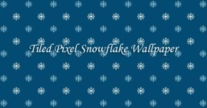 Christmas Small Pixel Snowflakes Tiled Wallpaper by cupcakekitten20