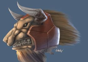 Armored Bull by frixinthepixel