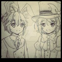 Kagamine Twins~ by PrincessYza