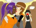 Yoruichi Licking my face. by gamemaster8910