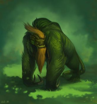 Grass Monster by ChateNoire
