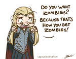 Hobbit - Thranduil Do you want zombies? by caycowa