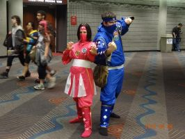 Ninjetti Rangers Pink and Blue by Jacky-the-Nerd